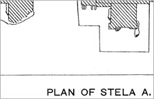 Plan of Stela A and its statues, after Davies 1908, Pl. XXXIV