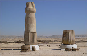 Restored column in front of the Sanctuary of the Small Aten Temple
