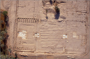 Aerial photograph of the front (western) portions of the North Palace
