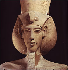 Photograph of Akhenaten statue, Egyptian Museum Cairo, courtesy of Mohamed Gabr