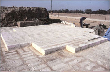 Small aten temple preservation amarna project for Pylon foundation