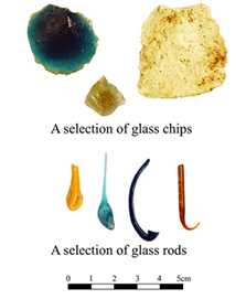 Some finds indicative of glass-working