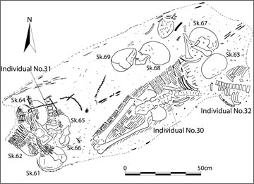 Figure 24. Bone Cluster (11617) following removal of covering fill
