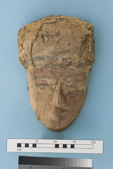 Figure 65. Object 38819: painted coffin face.