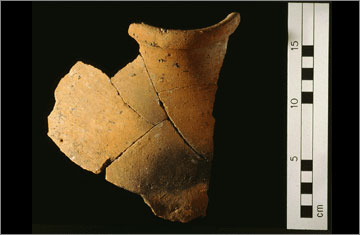 (Fig.2) Upper part of a Canaanite amphora excavated at Kom el-Nana, Amarna