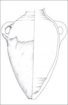 (Fig.29) 'Round shoulder' Group 2 Canaanite amphora from Amarna. Scale 1:4.