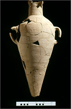 Standard amphora reconstructed from sherds
