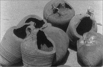 Vessels of unknown function from Kom el-Nana (perhaps for cheese making