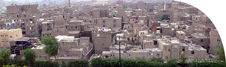 Part of the old city of Cairo, a surviving remnant of the preindustrial city.