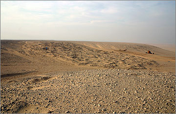 View of the Stone Village from the south-east