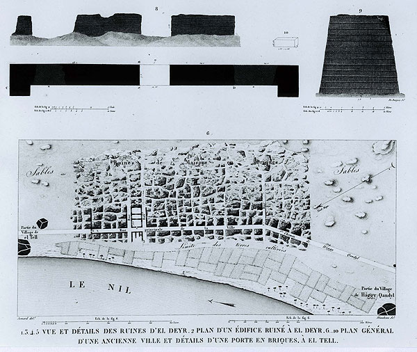 The First Known Map Of Amarna Made By The Napoleonic Expedition In